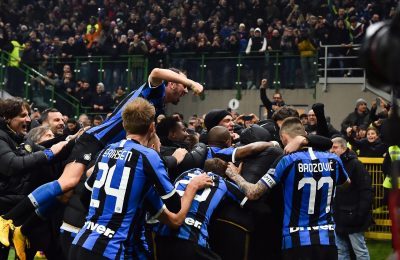 Inter second half comeback in Milan derby takes them to top of Serie A