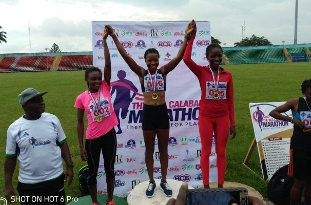 Onitsha City Marathon Olude Fadekemi , first Nigerian female to cross the line