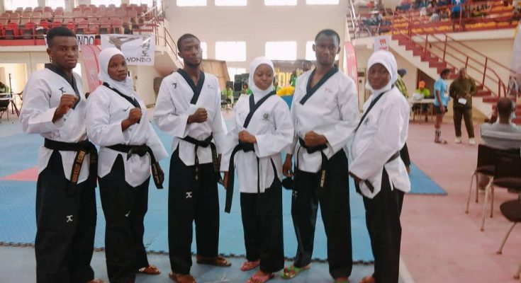 EDO 2020: Eight months pregnant Aminat Idrees wins Lagos first Gold medal